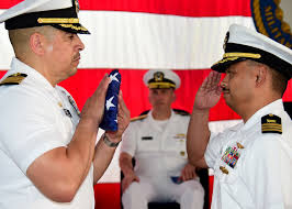 Retirement and flag ceremony