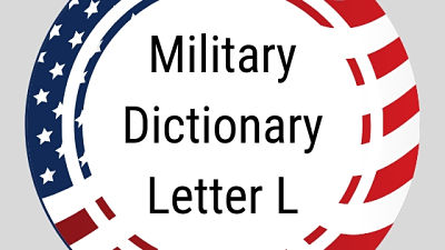 Military Dictionary Letter L