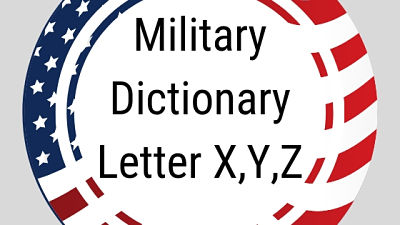 Military Dictionary Letter XYZ